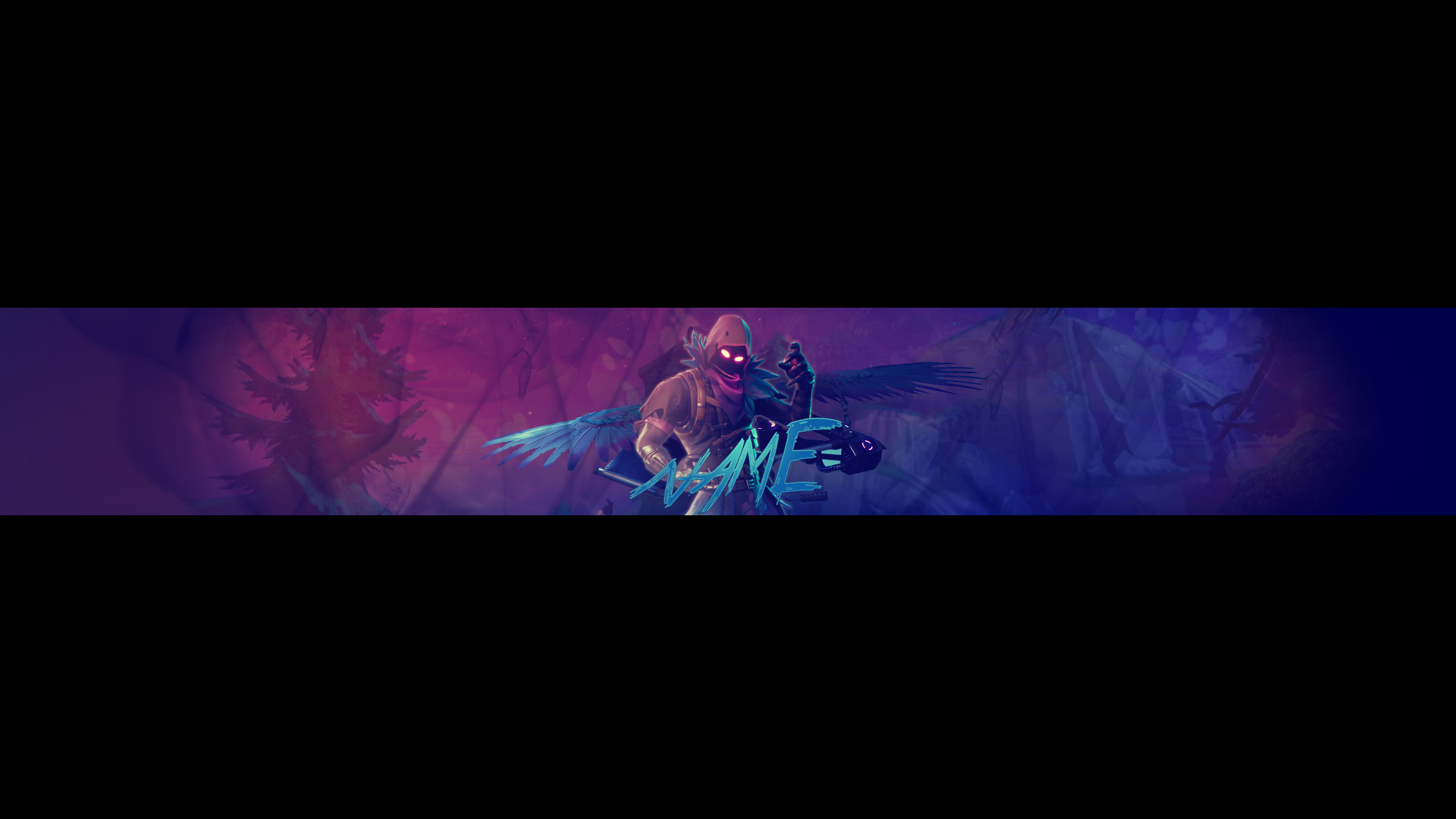 Free Raven Youtube Banner Template I Fortnite By Aronrege