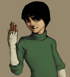 rock lee for chibi-chu-18 by Exocentric