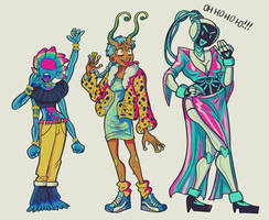 ladies now in colour by spacemerperson