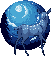 (FREE) moon deer by SqdPxl