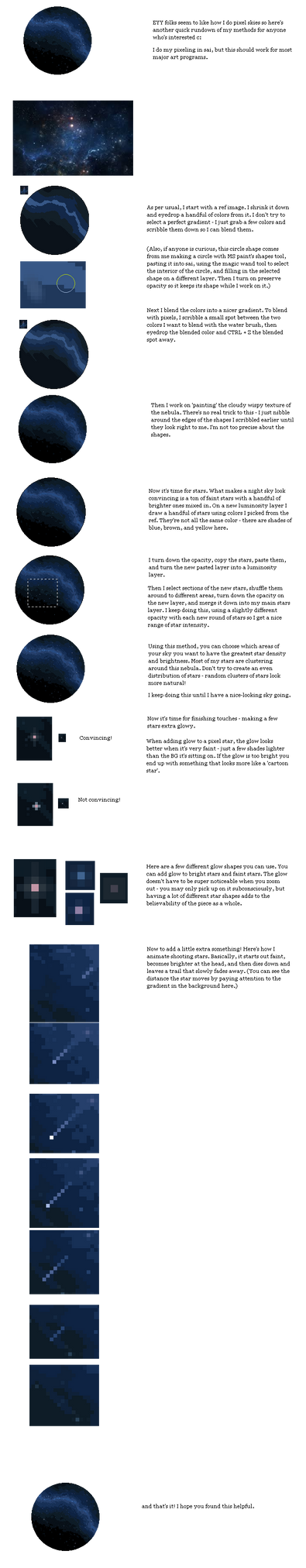 PIXEL + ANIMATION TUTORIAL: night sky by DidTheSqd