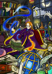 The Wizard's Study by Eoweniel