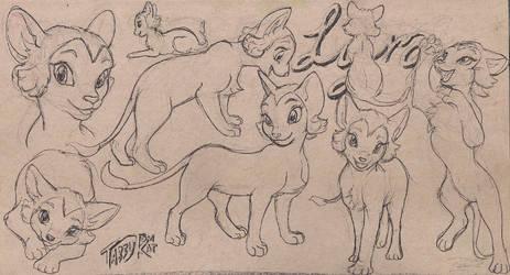 JungleEmperorLeo Lyra Sketch Design Set Line