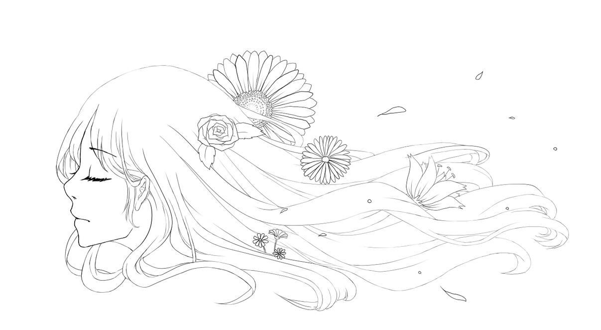 Flower girl by KiyokoBobby