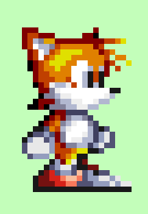 Tails in Knuckles Chaotix style/Special for S32x by Sadsaltan