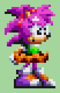 Amy Rose in Knuckles Chaotix style\SF S32x by Sadsaltan