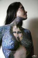 mona lisa body painting by faithfulartist