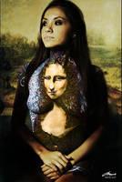 monalisa bodypainting with BG by faithfulartist