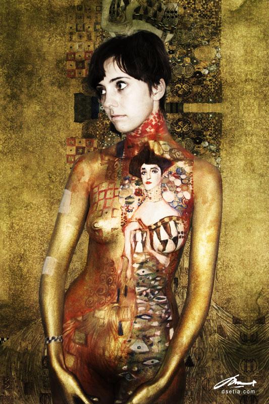 portrait of Adele Bloch Bauer by faithfulartist
