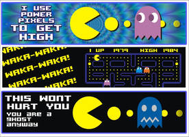 Pacman stickers by ArMaNDJ