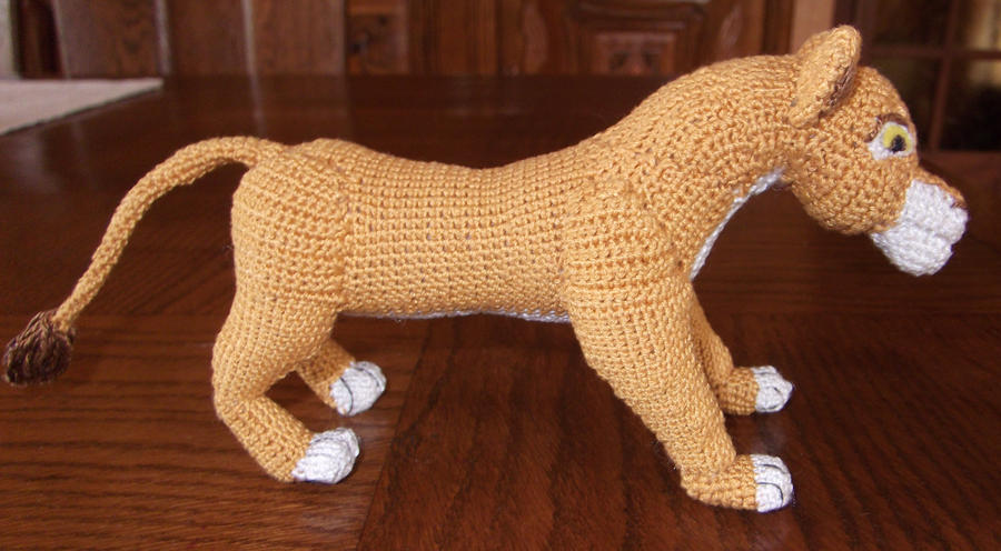 The Lion King Inspired Adult Simba Soft Toy - Large Crochet Lion ... | 496x900