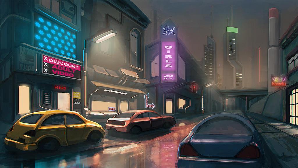 Cyberpunk Street by thiagoklafke on DeviantArt