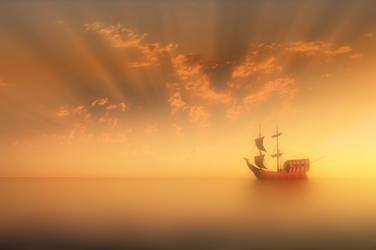 Old Boat At Heaven by Hassan9