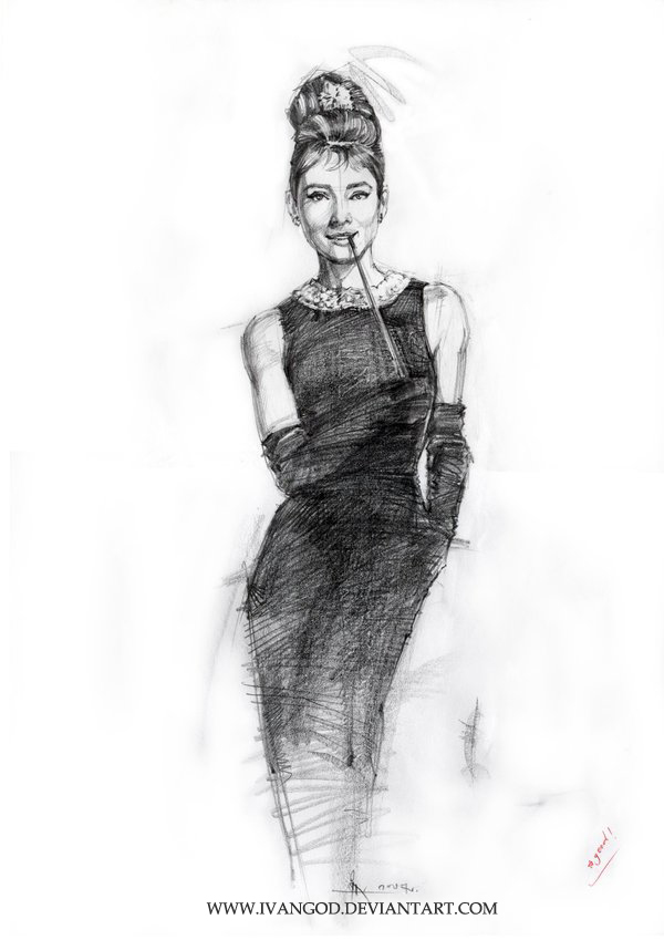 Audrey Hepburn by ivangod