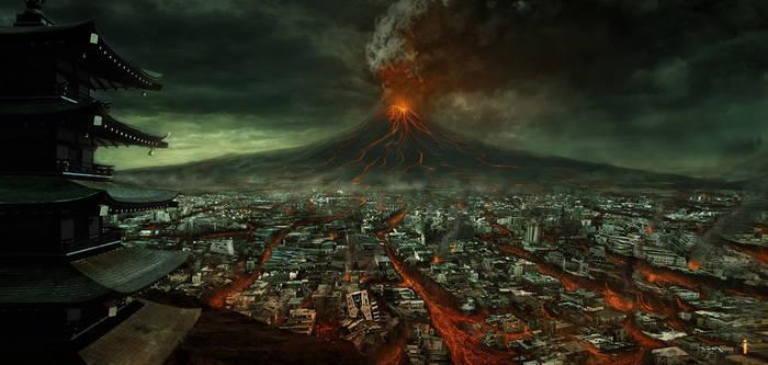 Volcano of  Fujiyama