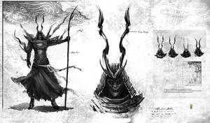 Concept sketch of Samurai ghost warrior