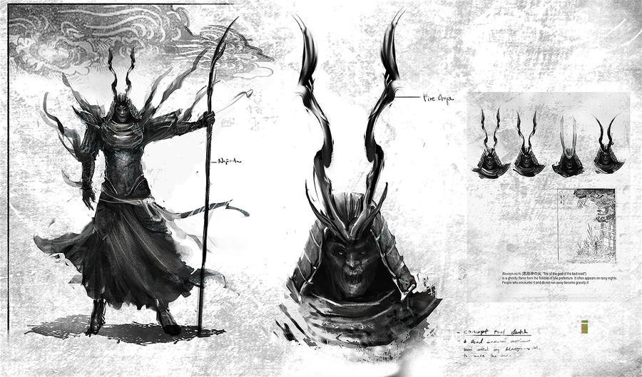 Concept sketch of Samurai ghost warrior by ivangod