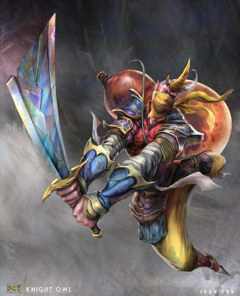 Gold horn demon by ivangod