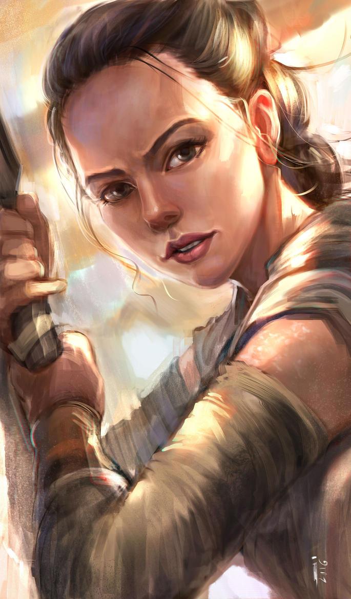 Rey - Force awakens by ivangod