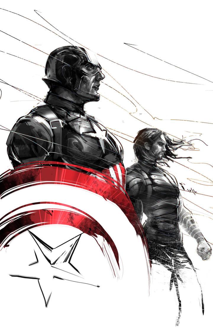Captain America civil war by ivangod