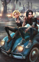 Android 18 and Android 17 by iVANTAO