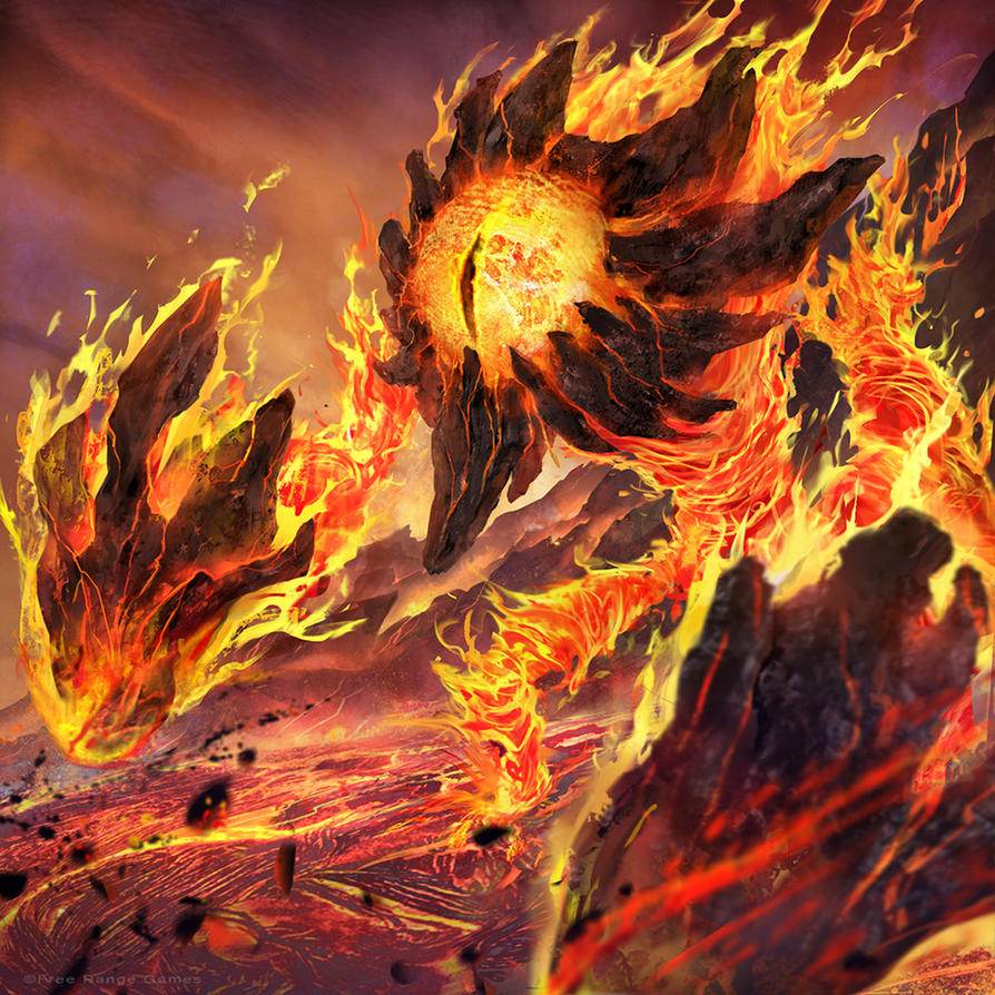 Fire Elemental by iVANTAO on DeviantArt