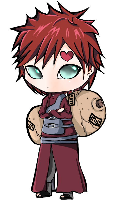 Request: Gaara Chibi by Mimimoma on DeviantArt Gaara And Naruto Chibi
