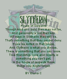 Slytherin House of Serpants by endlessrain5240