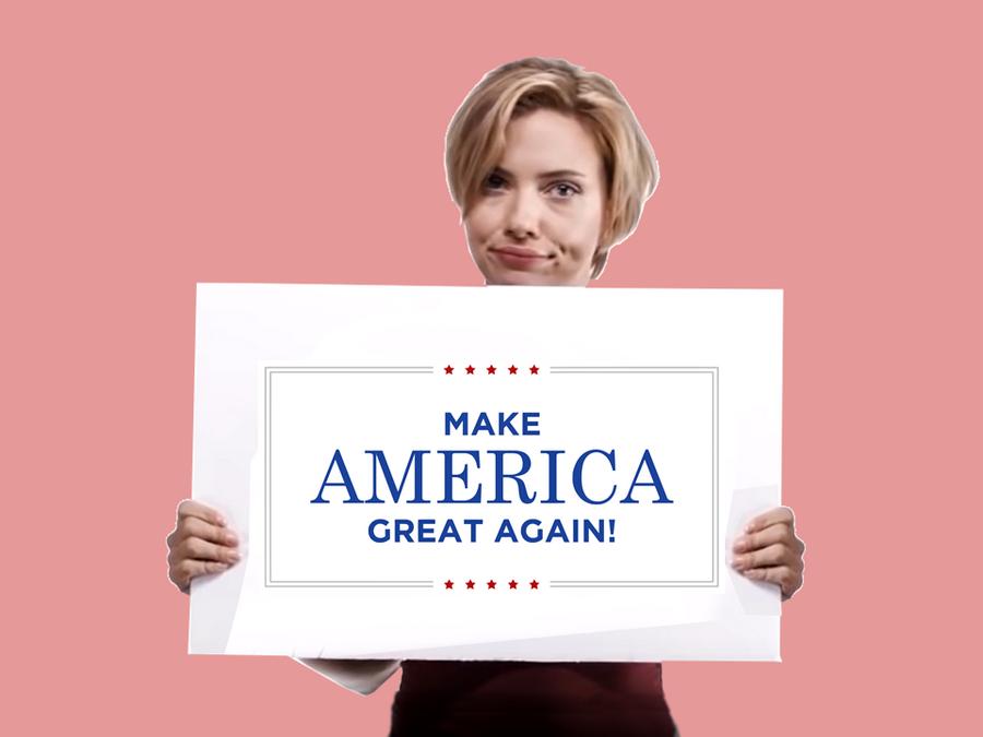 Scarjo wants to make america great again by for Make america great again wallpaper