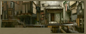 world end contest:back alley by a-human-works