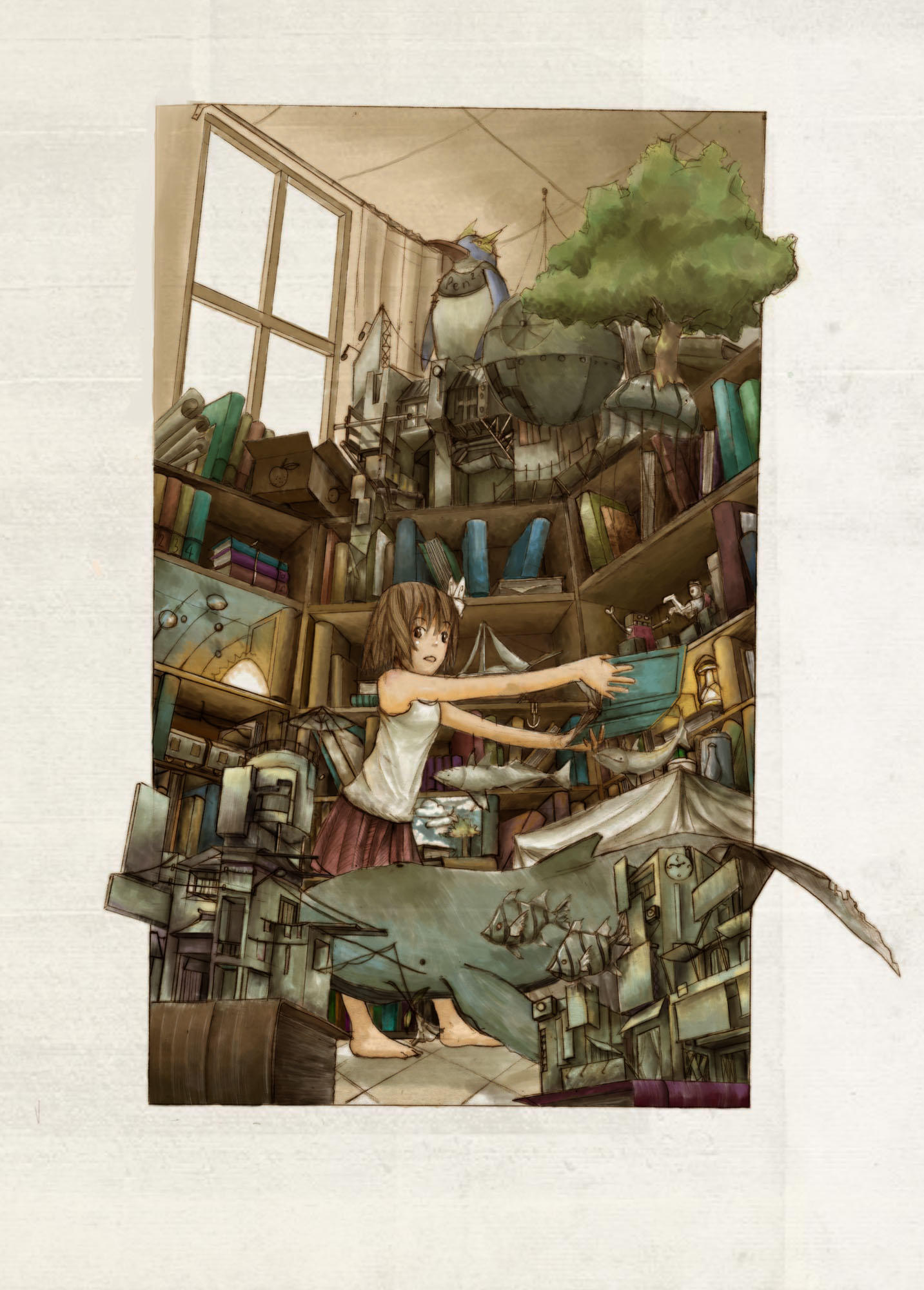 library of everythink by a-human-works