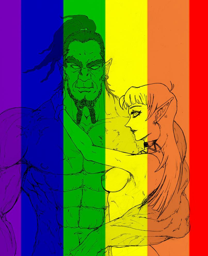 Orc + Elf = Love by qpmjcv