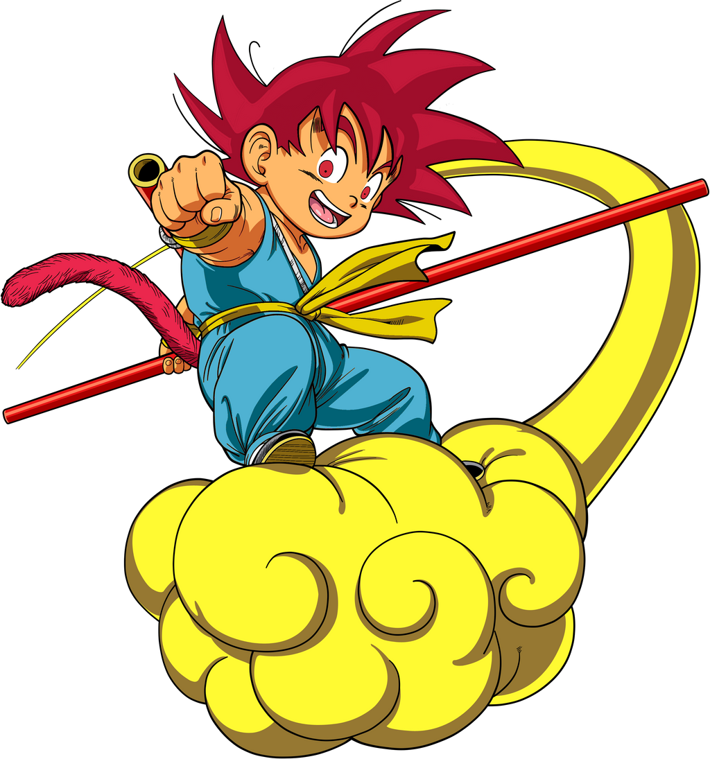 Super Saiyan God Kid Goku Jr by Dervilacus on DeviantArt