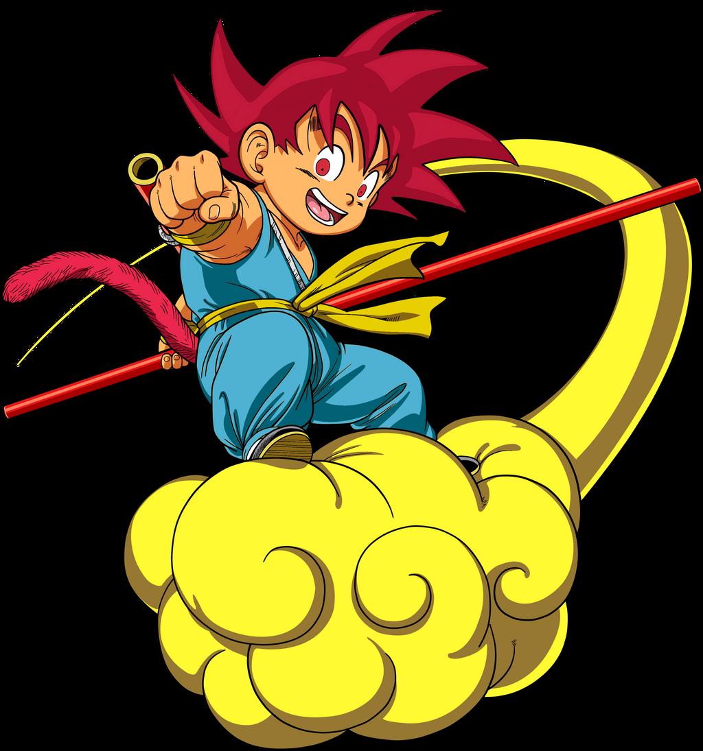 Super Saiyan God Kid Goku Jr by Dervilacus on DeviantArt