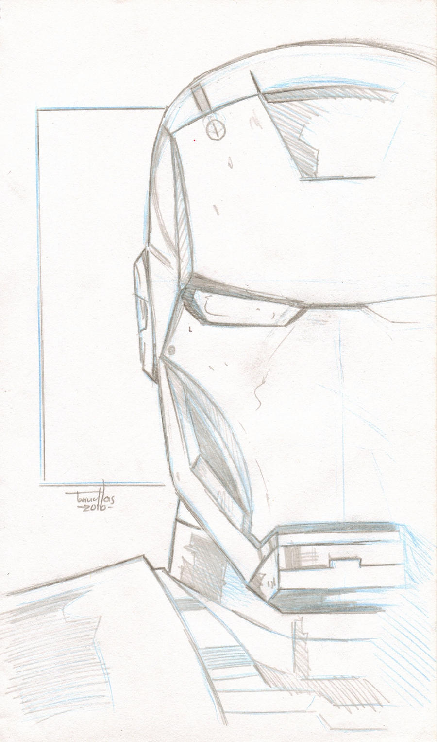 IRON MAN Sketch 6x9.5 By TorruellasArts On DeviantArt