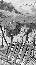 Landscape sketch by TorruellasArts