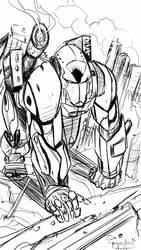 Gorilla mech sketch by TorruellasArts