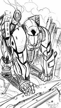 Gorilla mech sketch