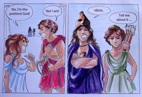 Greek Gods Comic Strip 1 : Apollo and Aphrodite by casandrastellag