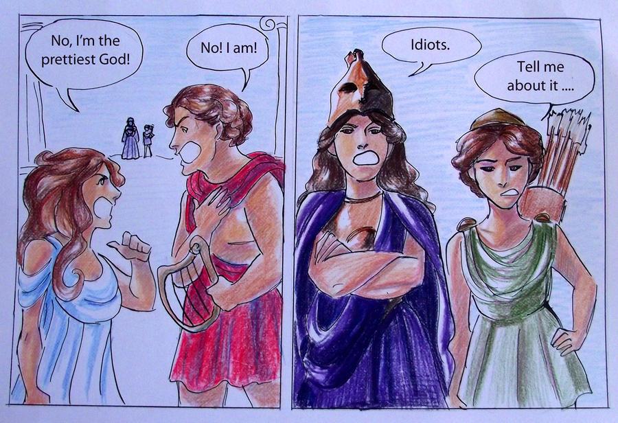 Greek Gods Comic Strip Apollo And Aphrodite Casandrastellag