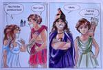 Greek Gods Comic Strip 1 : Apollo and Aphrodite
