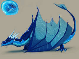 Blue Agate Dragon by CyrilTheBlueFire-D