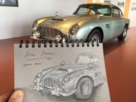 Aston Martin  -  plein-air sketch