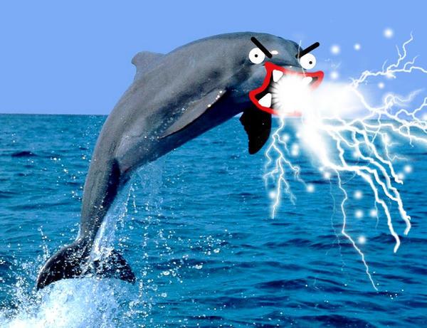 Evil dolphin by geekiachu