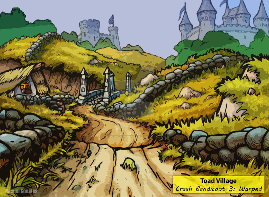 Crash Bandicoot 3 - Toad Village Concept Art [HD] by ...
