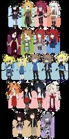 Naruto OCs by CandyBeka