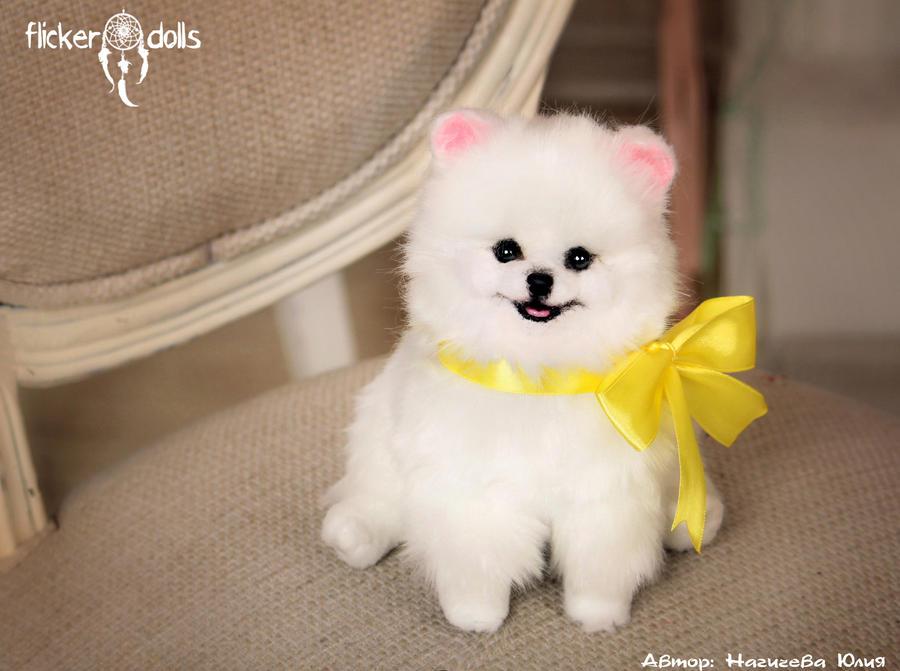princess puppy white spitz by flicker dolls on deviantart