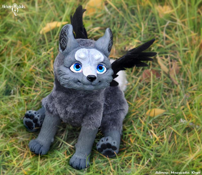 Winged Wolf Fursona Kotori (winged wolf-cu...