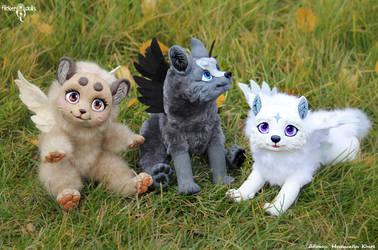 Shakumi, Kotori and Yuki by Flicker-Dolls
