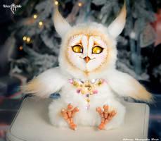 Golden Owl by Flicker-Dolls